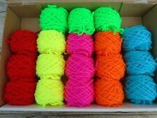 job lot 18 NEON / Bright colour wool/yarn balls-knitting/crochet crafts