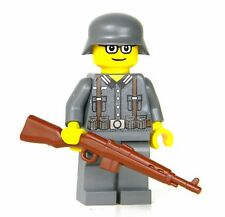 custom Gewehr 43 German WW2 wehrmacht Soldier made with real LEGO(R) minifigure