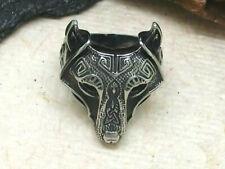 Keltischer Wolf Edelstahl Ring Wolfring Wikinger Kelten