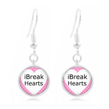 Heartbreaker glass Frea Earrings Art Photo Tibet silver Earring Jewelry #301