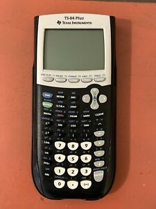 TEXAS INSTRUMENTS TI-84 PLUS GRAPHING CALCULATOR BLACK WITH CASE