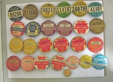 Vintage Fishing License Lot Of 25 Plus One Pennsylvania And New Jersey