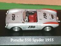 Porsche 550 Spyder 1955 Silver  Atlas Editions 1-43 scale Model Car