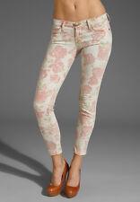 Current Elliott the stiletto khaki red rose design jeans SZ 31 New