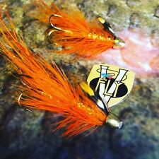 2 V Fly Stor Lax Legs 11 Tungsten CH Red Francis Salmon Tube Flies with Trebles