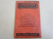 1941-48 PACKARD Carter Carburetor Rebuild Kit #156 ORIGINAL NOS