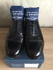 Charles Tyrwhitt ML060 Black Leather Sole Oxford Lace Up Shoes UK 8 G Fit