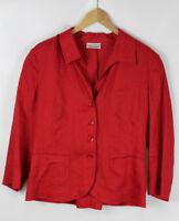 GERRY WEBER Damen Blazer, rot, Größe 42, 100% Leinen