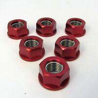 Yamaha YZF-R1 Big Bang 2009 - 2014 6 Red Aluminium Sprocket Nuts