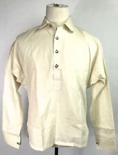 CIVIL WAR US UNION CSA CONFEDERATE FOUR BUTTON OFF WHITE MUSLIN SHIRT-LARGE