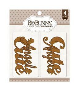 Bo Bunny Laser Cut Chipboard CUTE 12815168