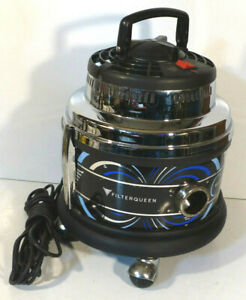 FILTER QUEEN MAJESTIC 360 VACUUM SYSTEM CLEANER BLUE Canister and Dolly TESTED