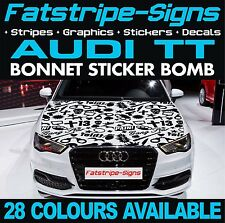 AUDI TT GRAPHICS BONNET STICKER BOMB ROOF CAR GRAPHICS DECALS STICKERS 1.8 GUN
