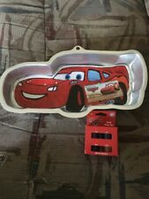 Wilton Disney Pixar Cars Lightning McQueen Cake Pan & Icing Color Set - NEW