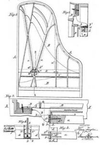 Old, antique piano-forte / pianoforte: Steinway..: histor. patents 1838 +