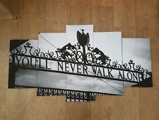 liverpool F.C. you'll  never  walk alone canvas wall  art black and white FRAMED