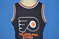 vintage 90s PHILADELPHIA FLYERS NHL HOCKEY TANK TOP BLACK t-shirt YOUTH XL