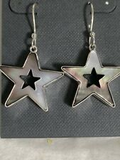 Mother Of Pearl Earrings Star Charles Albert Sterling silver Hook Gorgeous New