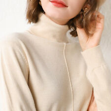 Woman Winter Cashmere sweater knitted Pullover High Quality Warm Turtleneck New