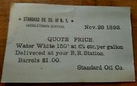 *RARE *ADVERTISING STANDARD OIL CO. RAILROAD STATION / DEPOT, MIDDLETOWN, N.Y.