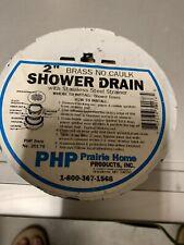 2 inch Brass No Caulk shower drain