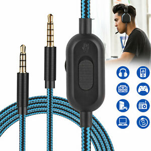 Replacement Audio Cable Cord Volume Control Mute for Astro A10 A40 A30 Headset