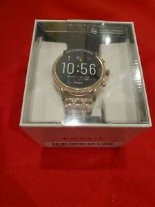 BRAND NEW SEALED Fossil Gen 5 Julianna 44mm Stainless Steel Case Rose Gold Watch