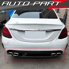Diffusor + Chrom Auspuffblenden für Mercedes Benz C W205 S205 T Modell AMG line