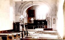 LINCOLNSHIRE POSTCARD INTERIOR VIEW OF BURWELL CHURCH NEAR LOUTH.