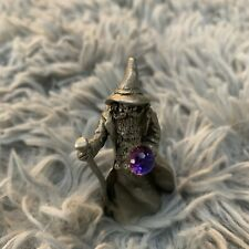 Gallo | Vintage Miniature Pewter Wizard Mage | Holding Purple Crystal
