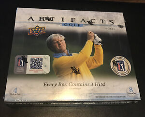 2021 Upper Deck Artifacts Golf Sealed 8 Pack Box - 4 Cards Per Pack - 3 HITS PER
