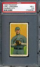 1909-11 T206 Piedmont 350 Carl Lundgren Kansas City PSA 3.5 Tough Card