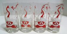 D1 Set Of 4 Rare Vintage Hubert Harmon Santa Poodle Glasses
