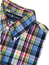 Polo Ralph Lauren Men's Button Down Shirt L  Large Custom Fit Long Sleeve EUC