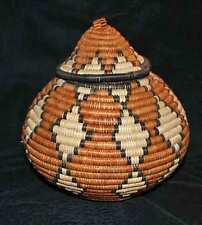 Charming Triangle Handmade African Zulu Beer/Storage Basket - Kwanzaa