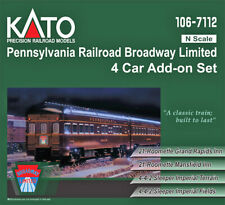 Kato N Scale Pennsy PRR Broadway Limited 4 Passenger Car Add-on Set 1067112