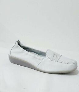 VITAFORM Ladies stud off white slip on real leather loafer shoe size 9 RP £62.15