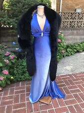 Gorgeous black fox fur stole Wrap cape 100 Inches long Made in the USA