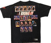 Vtg The Rock I Bring It! Dwayne Johnson tshirt Med WWE Authentic +18 WWF cards