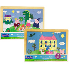 Peppa Pig Wood Jigsaw Puzzle - 12 Pieces (Assorted Designs)