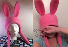 Bunny Hat Hood Cosplay Rabbit Pink Ears Costume Fleece - Any Color! Anime Manga
