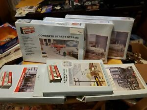 6 NIB WALTHERS CORNERSTONE HO Model's Assorted Structures Please look got more!!