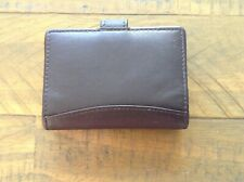 Soft Dark Brown Leather Card Wallet