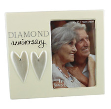60th Wedding Anniversary Photo Frame Diamond Celebration Gift Picture Present