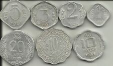 1,2,3,5,10 & 20 PAISE ALUMINIUM 7 COINS SET @ LOW PRICE WITH FAST SHIPPING