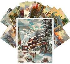 Postcards Pack [24 cards] Winter Country Landscapes Vintage Christmas CC-1156
