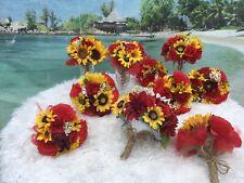16 Bouquet Bridal wedding flowers package sunflowers Decorations 16 bouquet