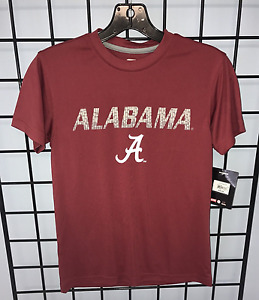 University of Alabama Youth Boy's Crimson Tee with Digital Print and Script A