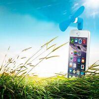 POP Portable Mini USB Fan Super Mute Cooling for Phone iPhone 6 6s Plus Blue PK