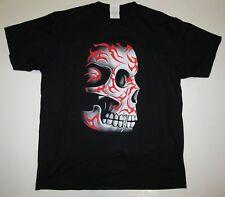 Tattoo Skull Head Hammer Heavy Metal Hardcore Hammer Rocker Biker T-Shirt L 54